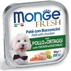 MONGE DOG FRESH КОНСЕРВЫ ДЛЯ СОБАК КУРИЦА С ОВОЩАМИ 100 Г